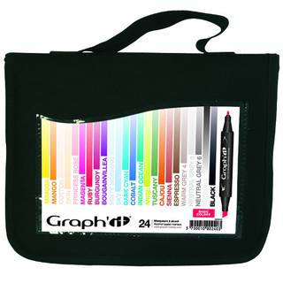 Graph It Alkohol Marker 24er Set in Mappe - Basic