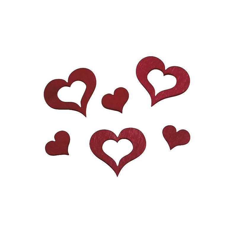 Rote holzherzen zum streuen und basteln 24 st ck in 1 bzw for Deko rostfarbe