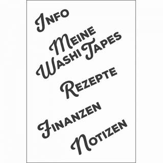 Clear Stamps, Info, 5 - teilig
