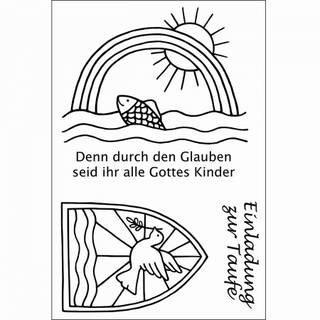 Clear Stamps, Taufe, 3 - teilig