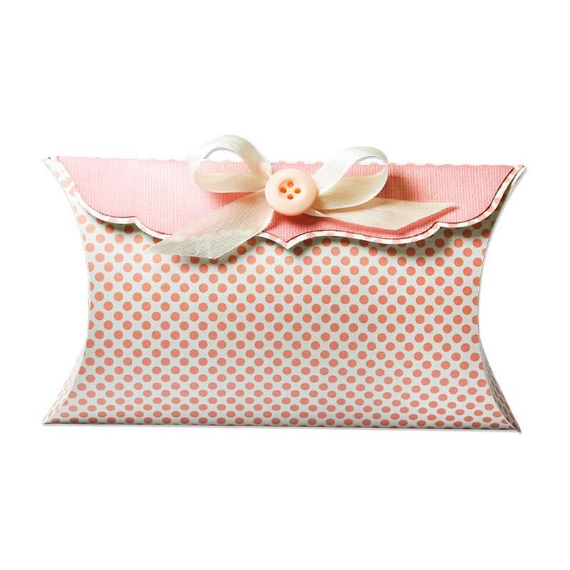 sizzix big shot plus stanzschablone thinlits pillow box schicke geschenkbox zum stanzen. Black Bedroom Furniture Sets. Home Design Ideas