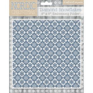 Nordic Christmas Folder 20,3 x 20,3 cm, Diamond Snowflake