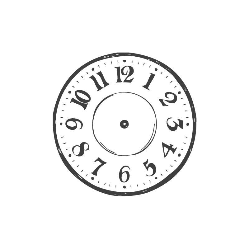 stempel rund  clock  uhr