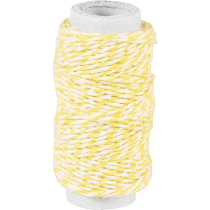 B ckergarn in gelb wei gestreift f r bunte sommerliche for Deko rostfarbe