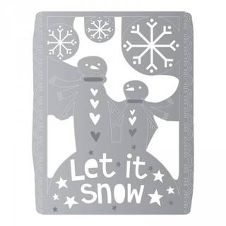 Sizzix Thinlits Schablonen-Set, Let it snow