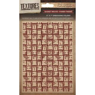 Textures Embossing Folder - Basket Weave