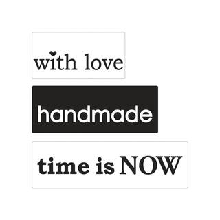 Motiv-Label...love, handmade, time..., 3 teilig