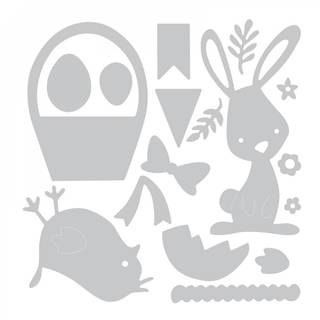 Sizzix Thinlits Schablonen-Set, Ostern-Eastern