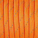 Paracord, 4 mm x 50 m, orange reflektierend