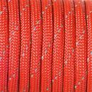 Paracord, 4 mm x 50 m, rot reflektierend